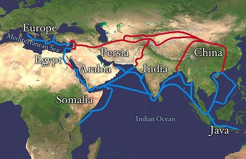 About Silk Route, the Primary Goods or Ideas Traded, and Historical Impact