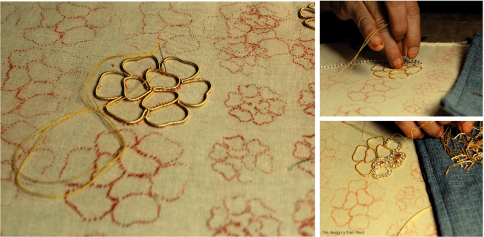 Embroidery of Gold- Zardozi Embroidery
