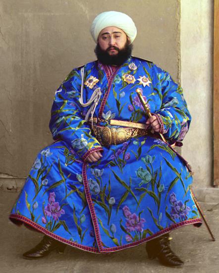 The Emir of Bukhara in his turban